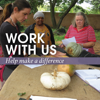 Work with us: help make a difference.