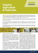 Fact Sheet Organic Agriculture and Pesticides